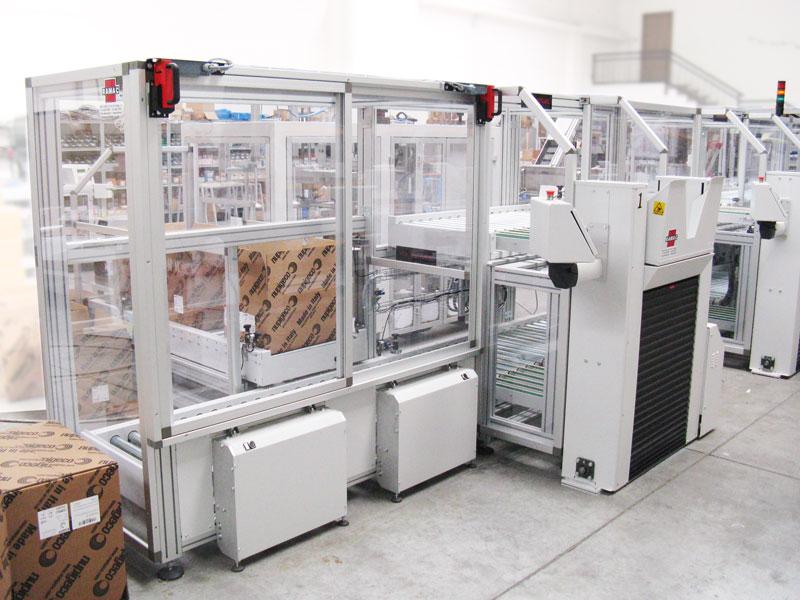 Protezione per impianto pesa scatole