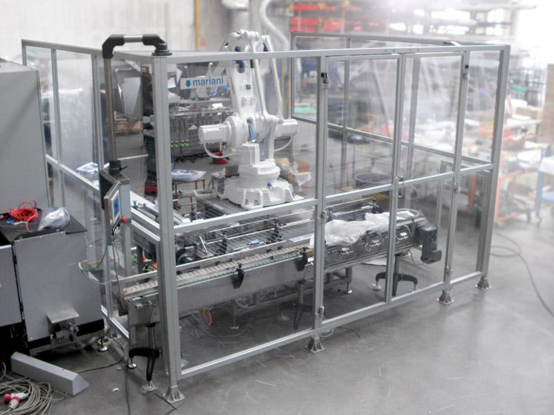 Protezione in alluminio per robot