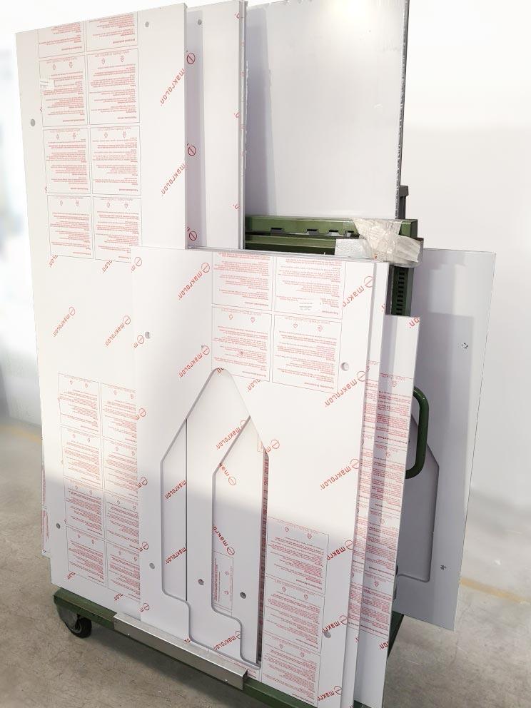 Pannelli in policarbonato lavorati