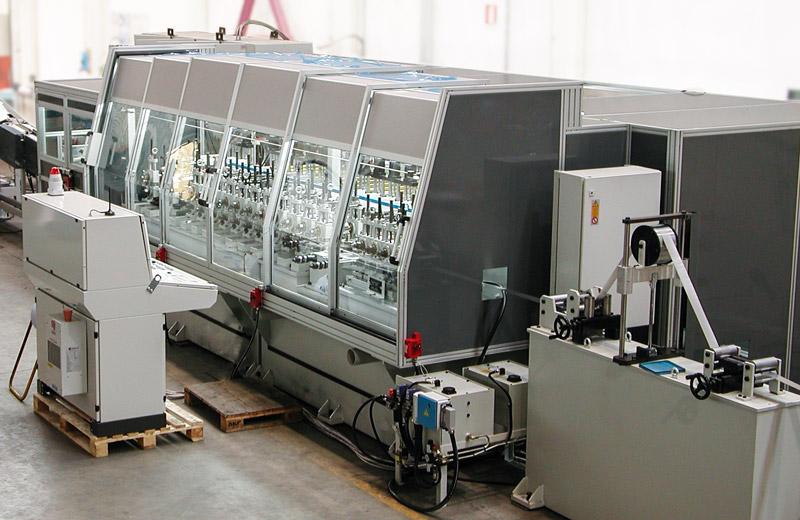 Cabina impianto lavorazione tubo